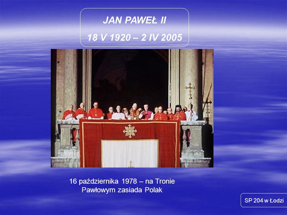 16 października 1978 – na Tronie Pawłowym zasiada Polak