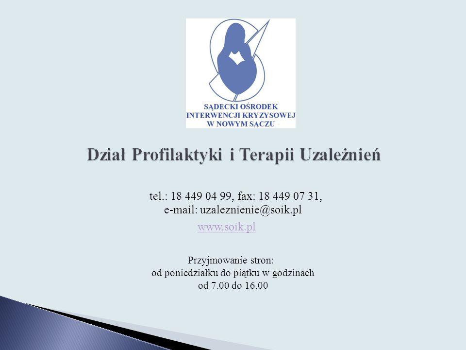 Dział Profilaktyki i Terapii Uzależnień
