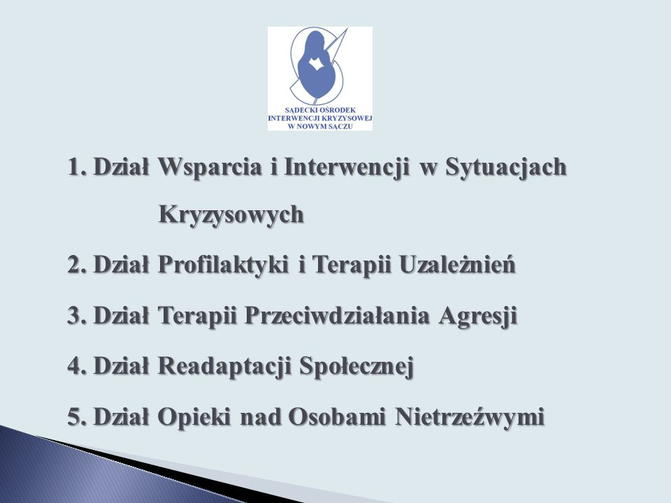 1. Dział Wsparcia i Interwencji w Sytuacjach Kryzysowych 2