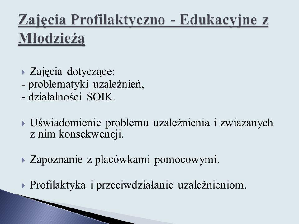 Zajęcia Profilaktyczno - Edukacyjne z Młodzieżą