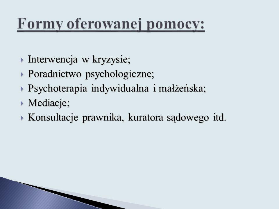Formy oferowanej pomocy: