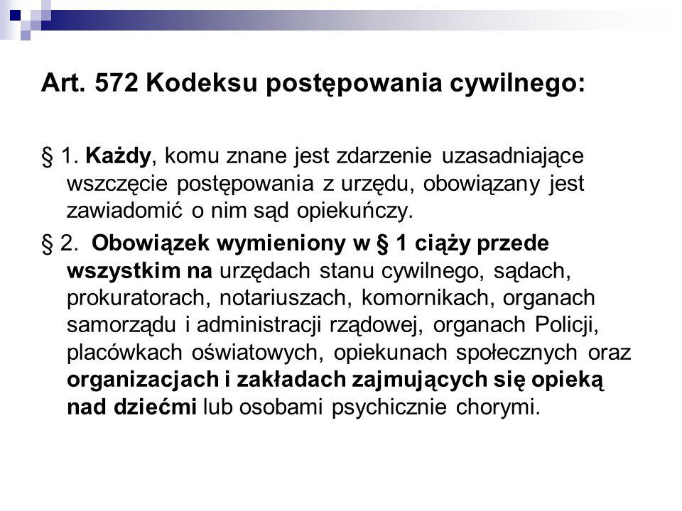 Art. 572 Kodeksu postępowania cywilnego: