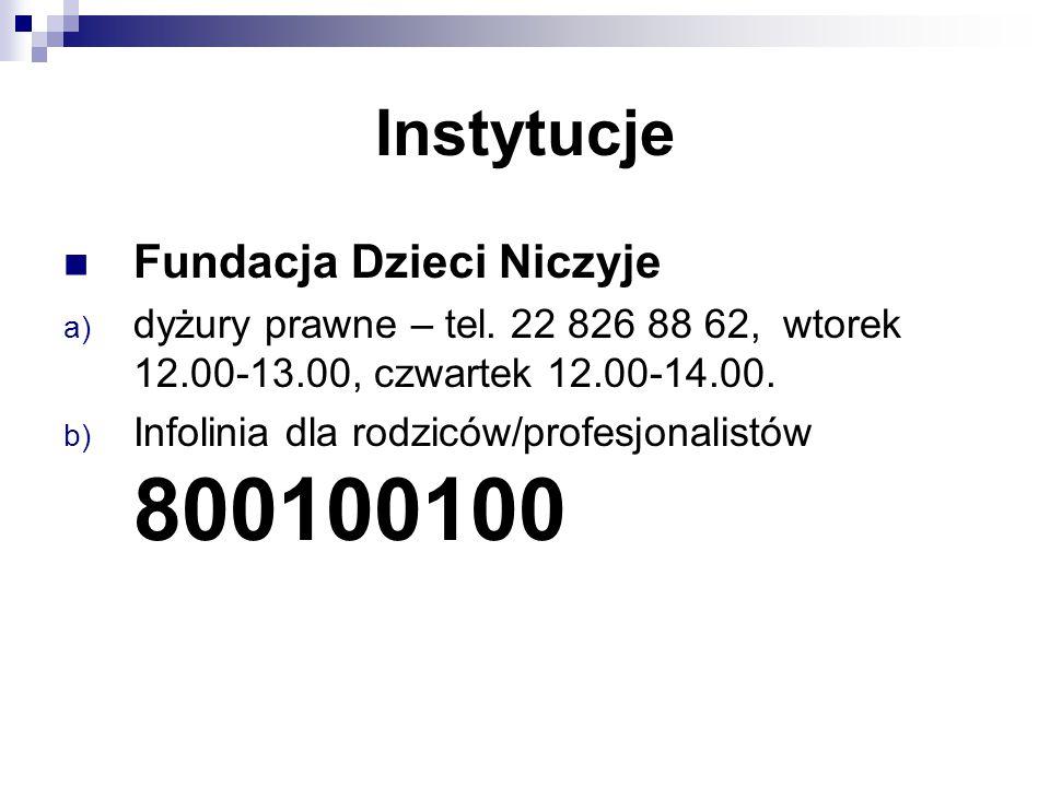 Instytucje Fundacja Dzieci Niczyje