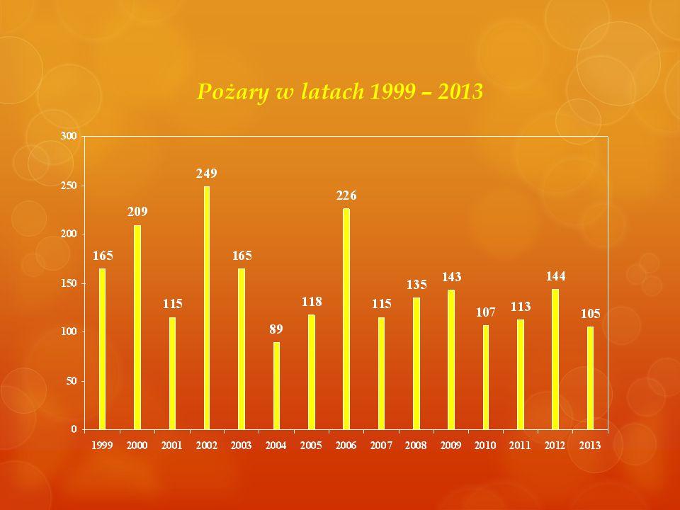 Pożary w latach 1999 – 2013