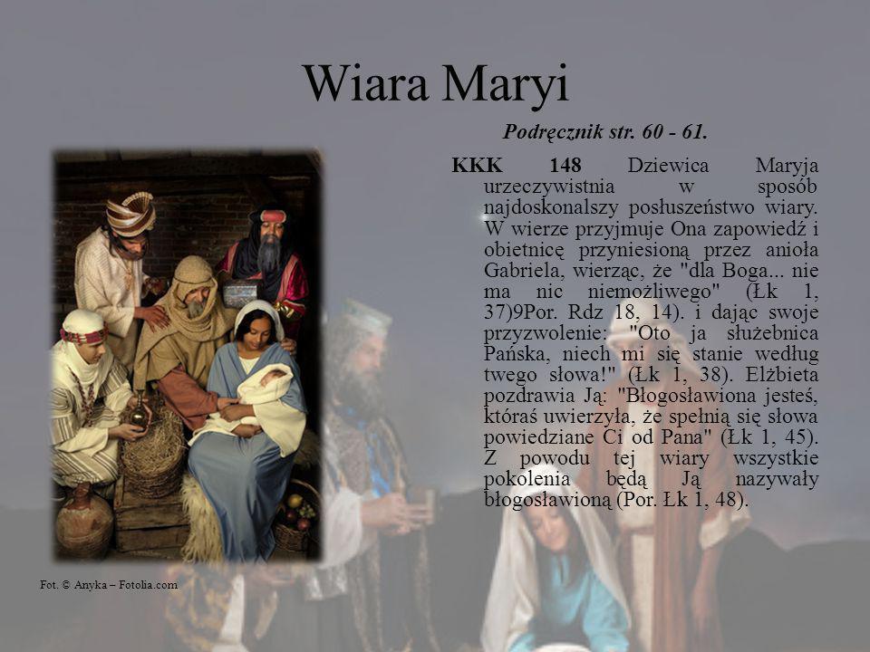 Wiara Maryi Podręcznik str. 60 - 61.