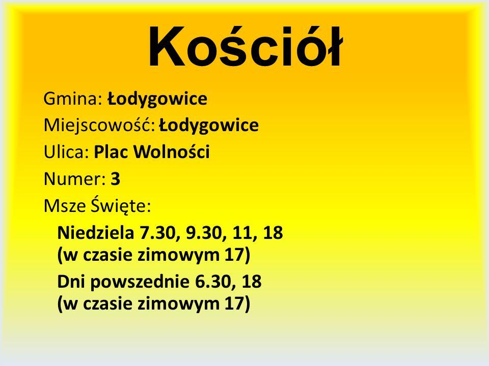 Kościół Gmina: Łodygowice Miejscowość: Łodygowice Ulica: Plac Wolności