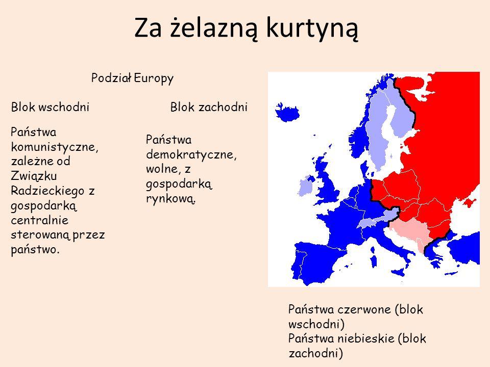 Za żelazną kurtyną Podział Europy Blok wschodni Blok zachodni