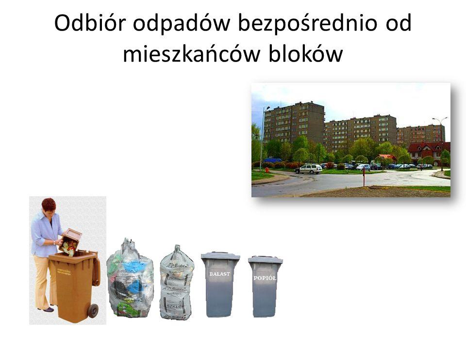 Odbiór odpadów bezpośrednio od mieszkańców bloków