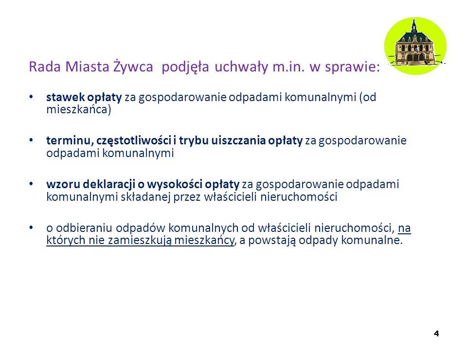 Rada Miasta Żywca podjęła uchwały m.in. w sprawie: