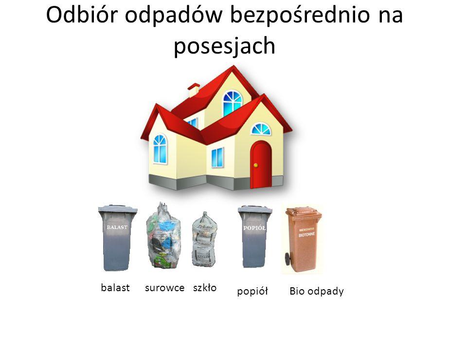 Odbiór odpadów bezpośrednio na posesjach