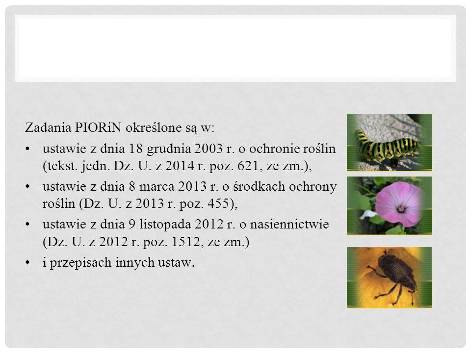 Zadania PIORiN określone są w: