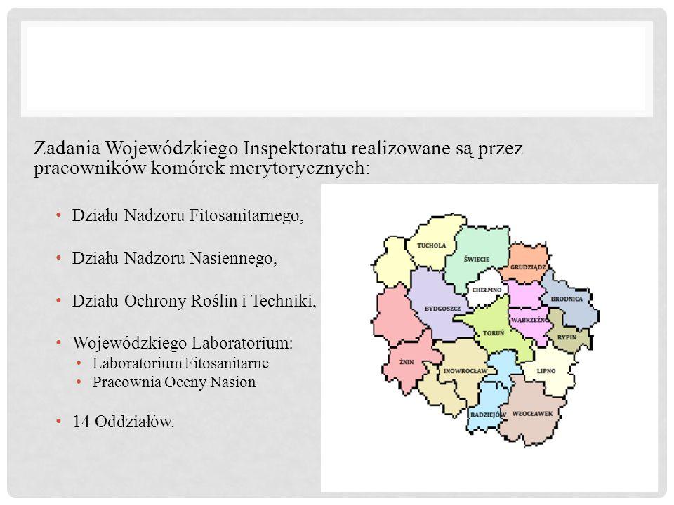 Zadania Wojewódzkiego Inspektoratu realizowane są przez pracowników komórek merytorycznych: