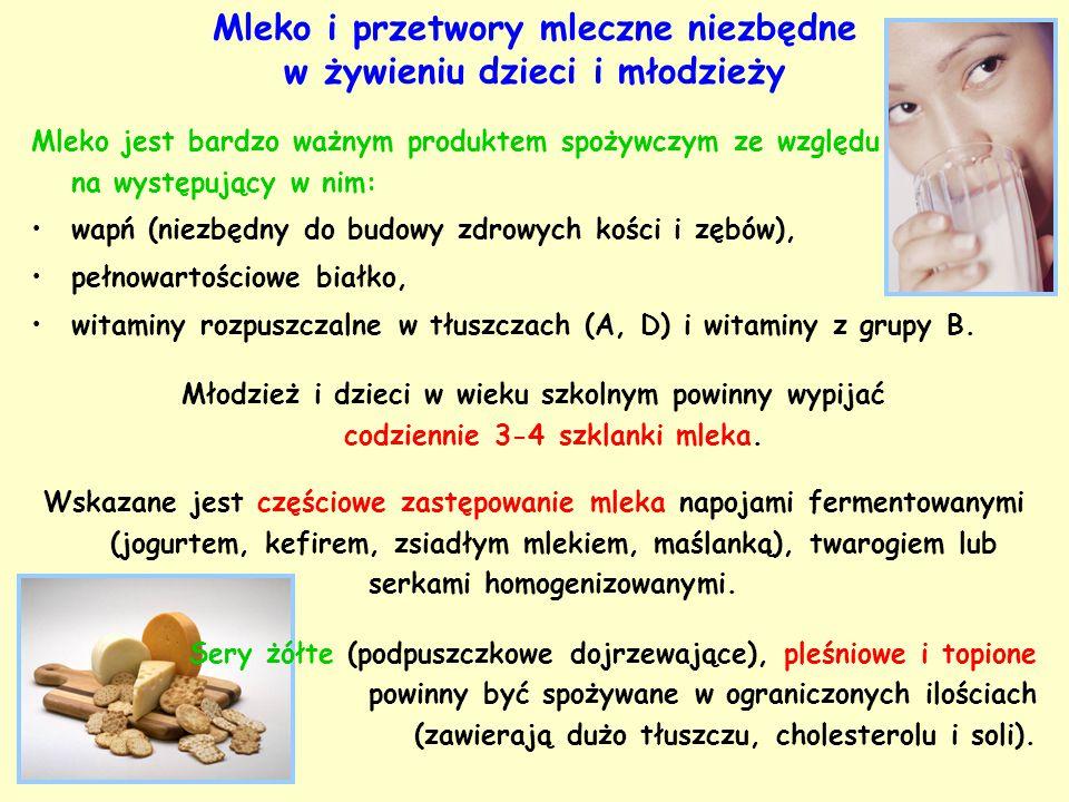 Mleko i przetwory mleczne niezbędne w żywieniu dzieci i młodzieży