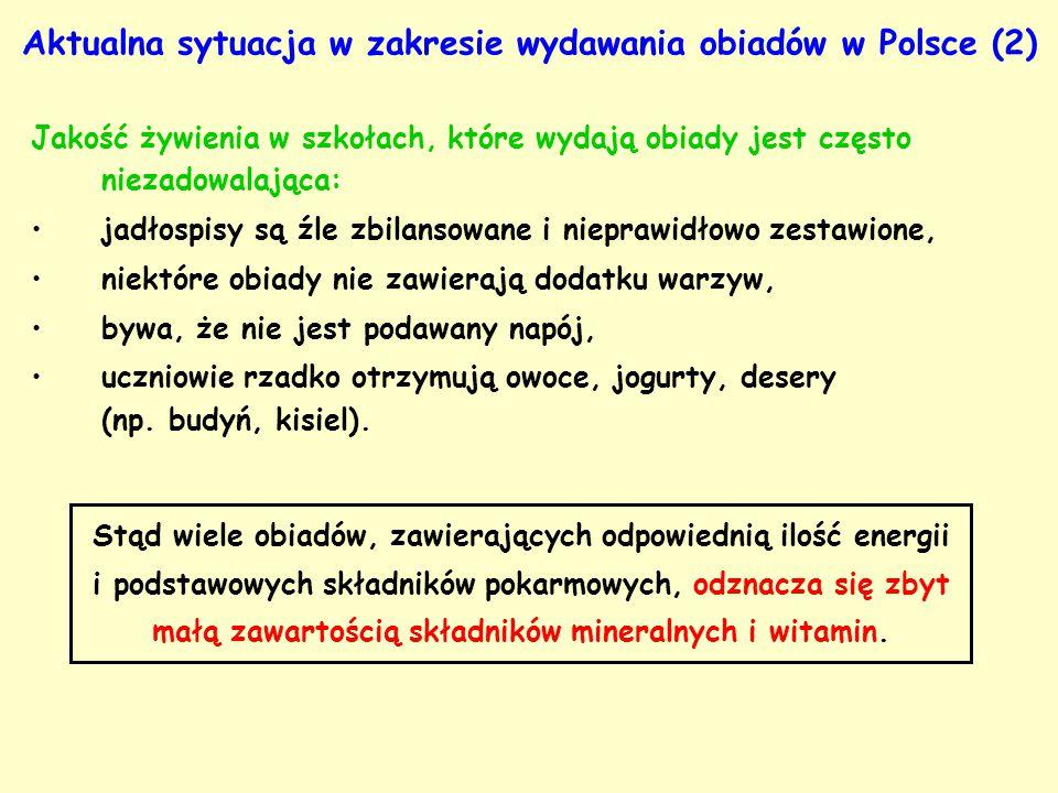 Aktualna sytuacja w zakresie wydawania obiadów w Polsce (2)