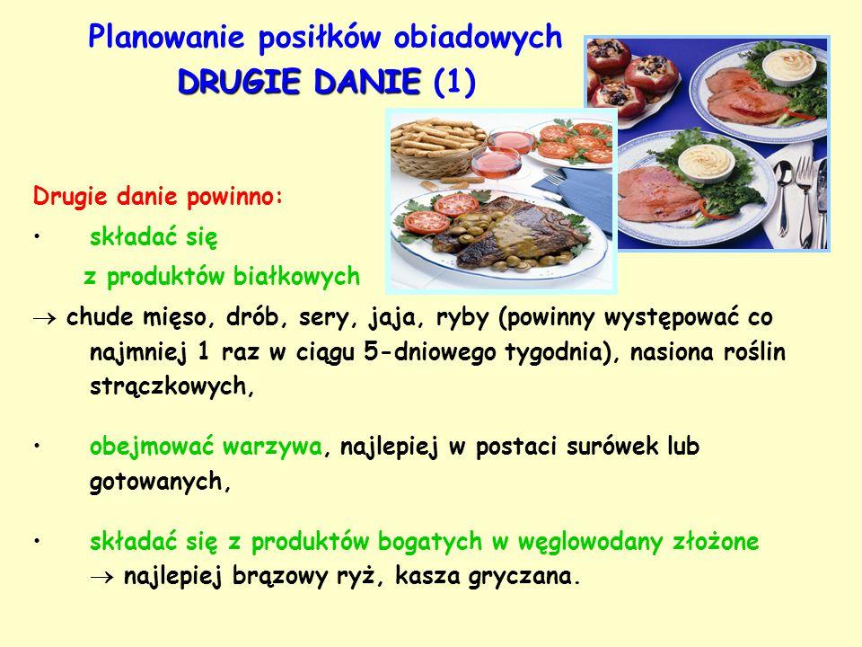 Planowanie posiłków obiadowych DRUGIE DANIE (1)