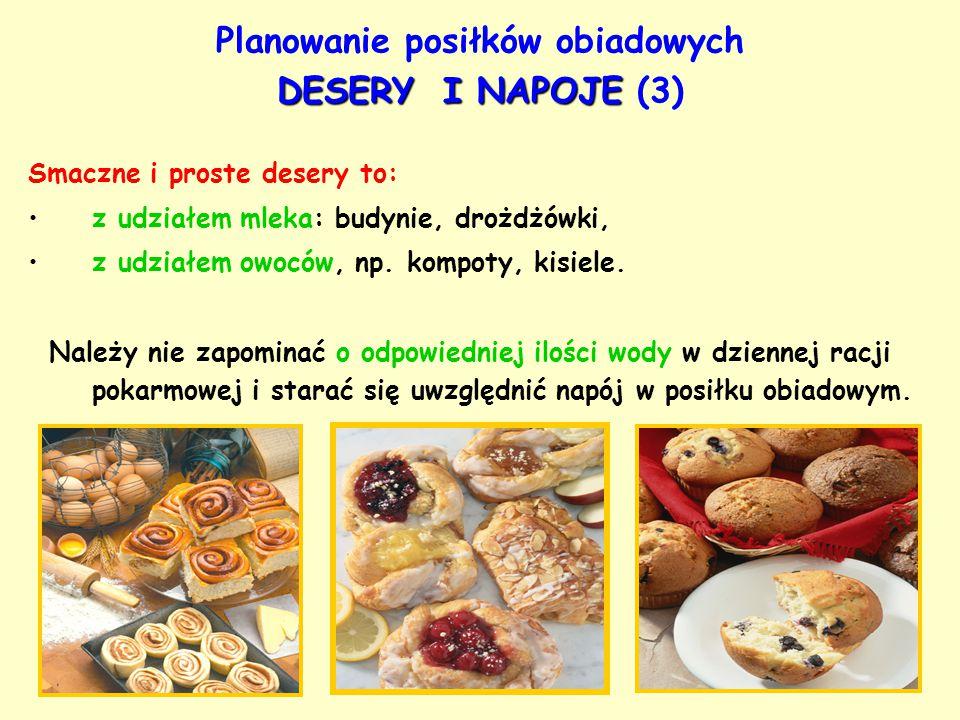 Planowanie posiłków obiadowych DESERY I NAPOJE (3)