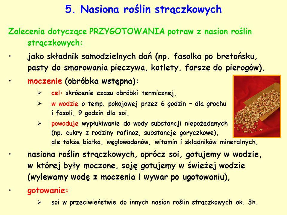 5. Nasiona roślin strączkowych