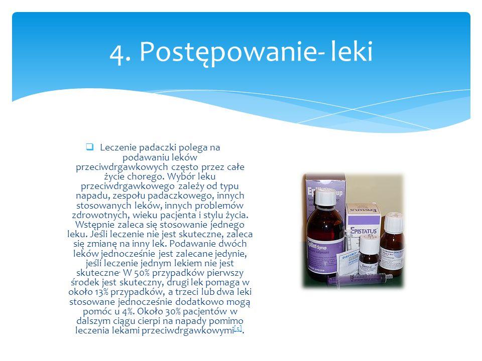 4. Postępowanie- leki