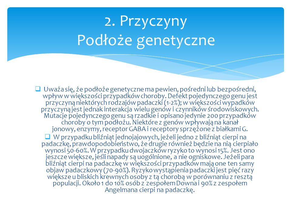 2. Przyczyny Podłoże genetyczne