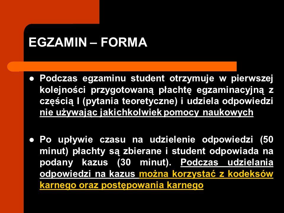 EGZAMIN – FORMA