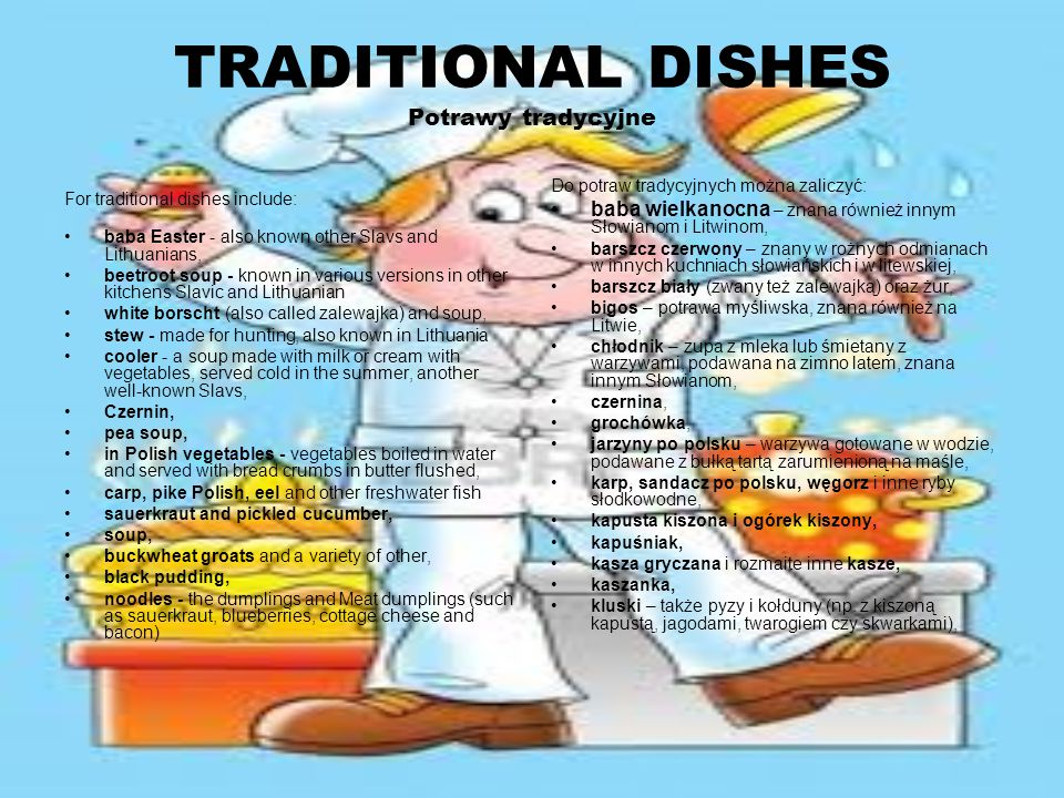 TRADITIONAL DISHES Potrawy tradycyjne