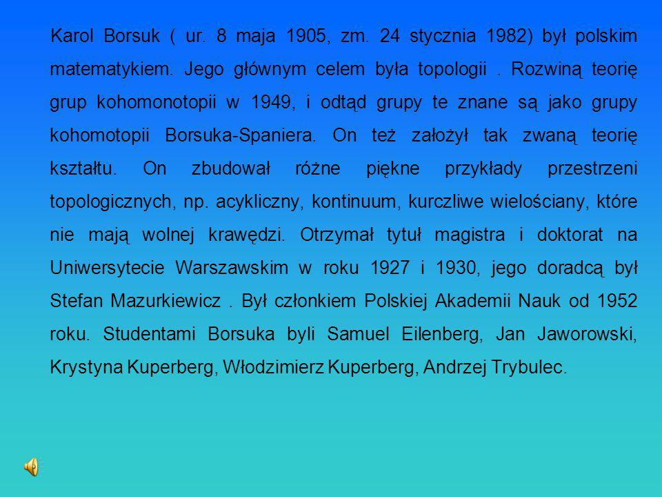 Karol Borsuk ( ur. 8 maja 1905, zm