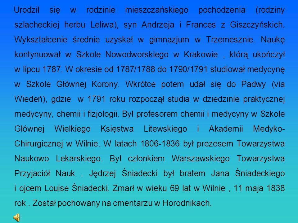 Urodził się w rodzinie mieszczańskiego pochodzenia (rodziny szlacheckiej herbu Leliwa), syn Andrzeja i Frances z Giszczyńskich.