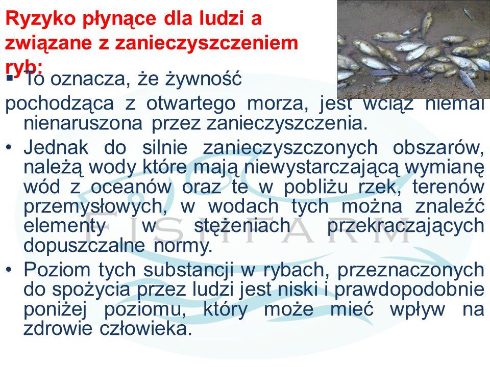 Ryzyko płynące dla ludzi a związane z zanieczyszczeniem ryb: