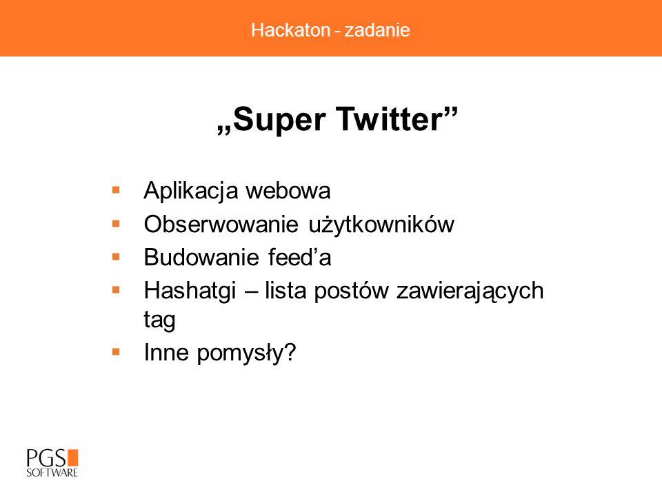 """""""Super Twitter Aplikacja webowa Obserwowanie użytkowników"""