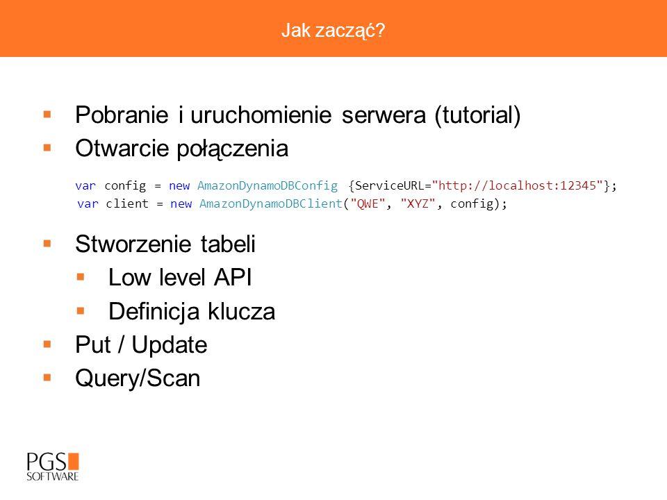 Pobranie i uruchomienie serwera (tutorial) Otwarcie połączenia