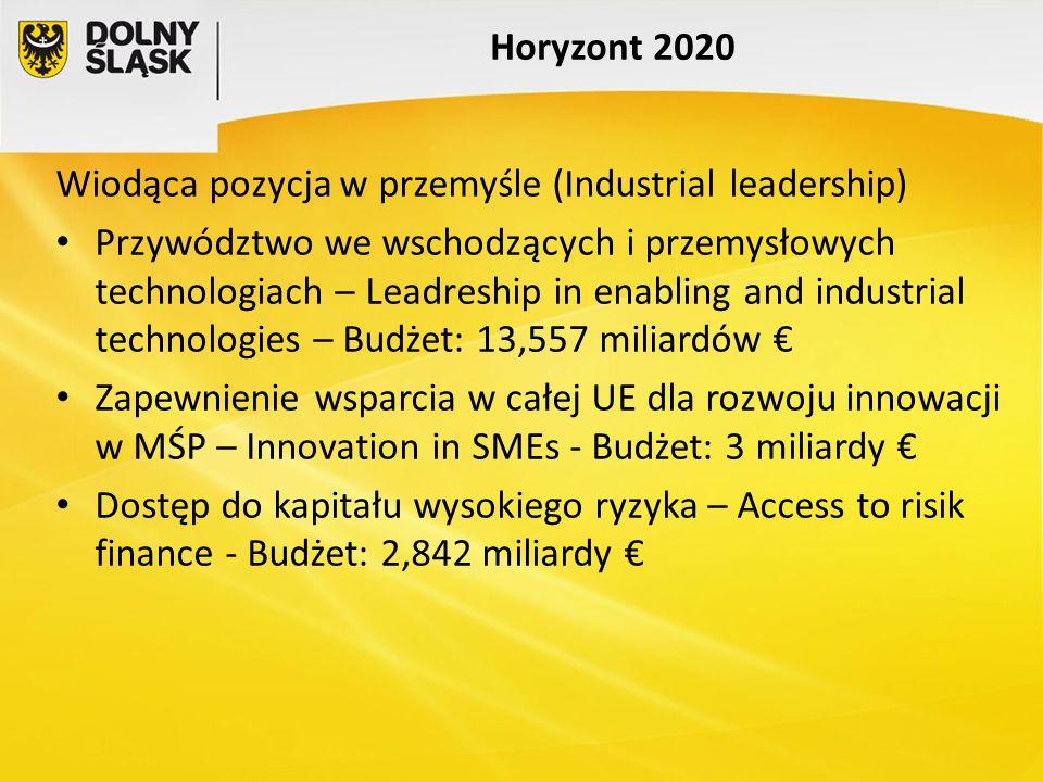Horyzont 2020 Wiodąca pozycja w przemyśle (Industrial leadership)