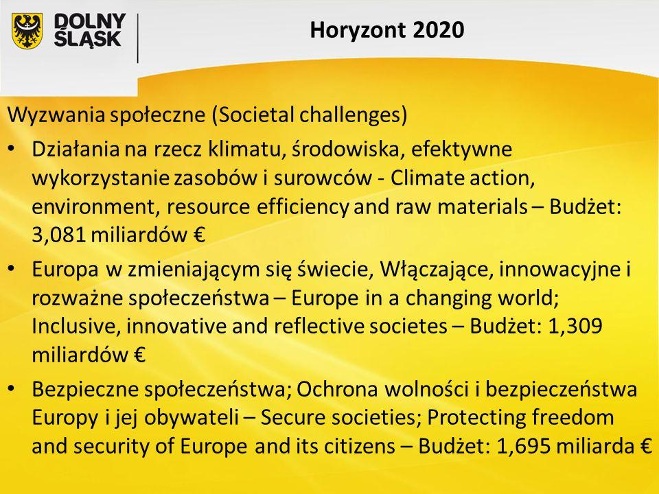 Horyzont 2020 Wyzwania społeczne (Societal challenges)