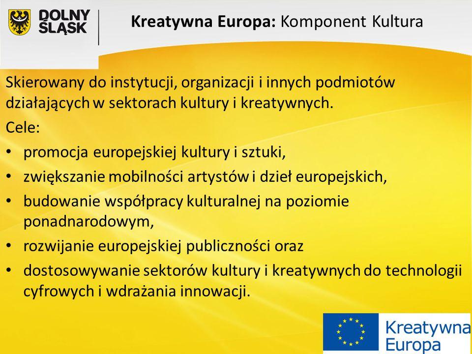 Kreatywna Europa: Komponent Kultura