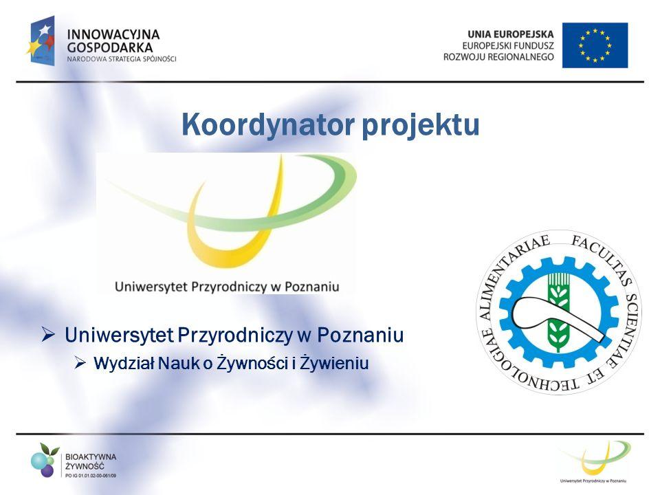 Koordynator projektu Uniwersytet Przyrodniczy w Poznaniu
