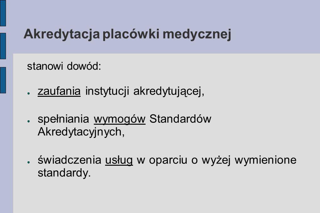 Akredytacja placówki medycznej