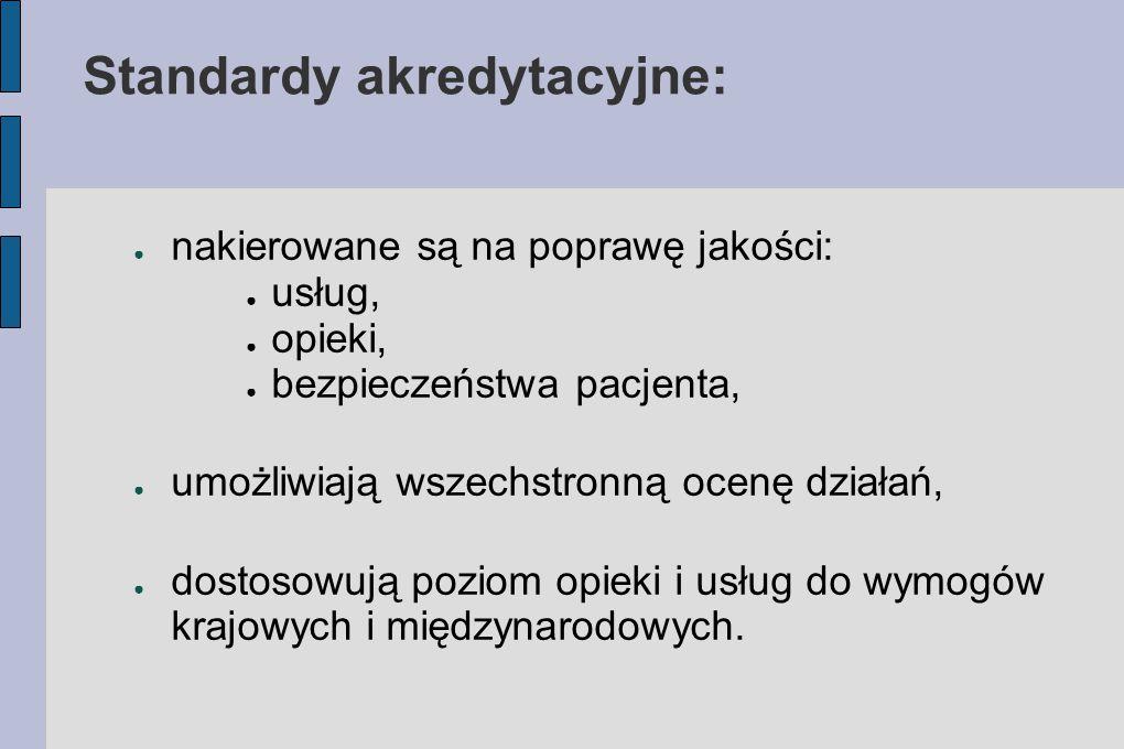 Standardy akredytacyjne: