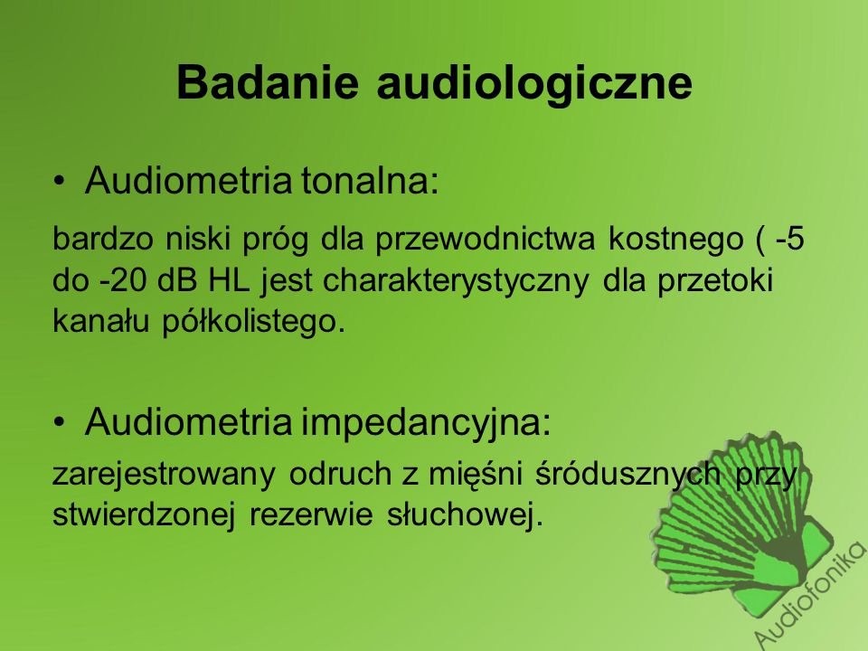 Badanie audiologiczne