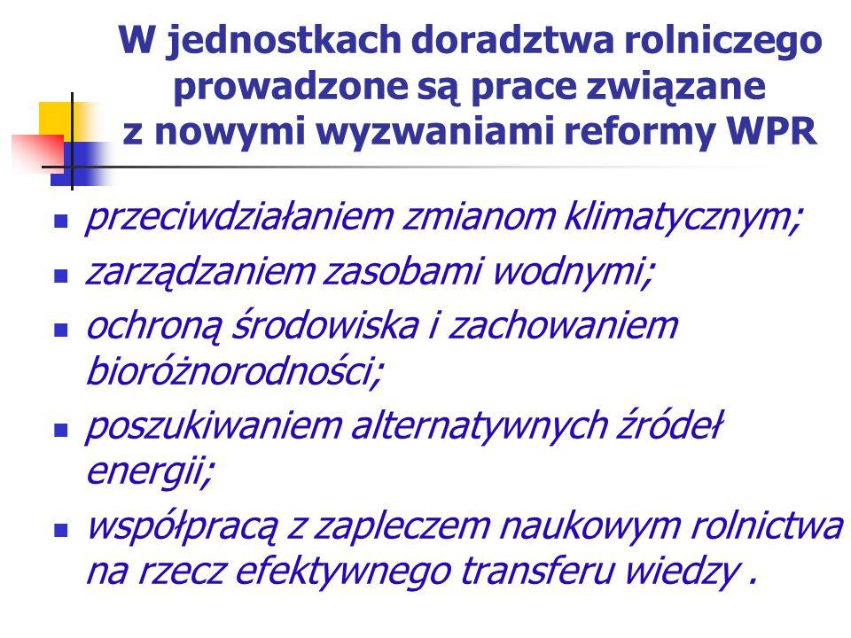 W jednostkach doradztwa rolniczego prowadzone są prace związane z nowymi wyzwaniami reformy WPR