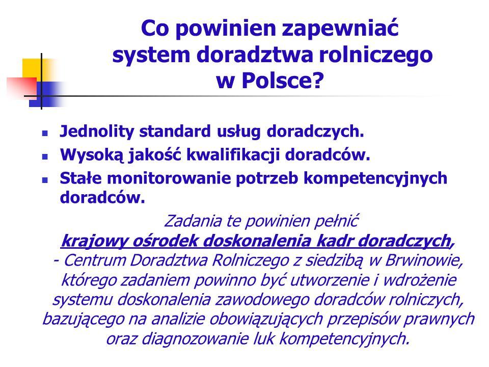Co powinien zapewniać system doradztwa rolniczego w Polsce
