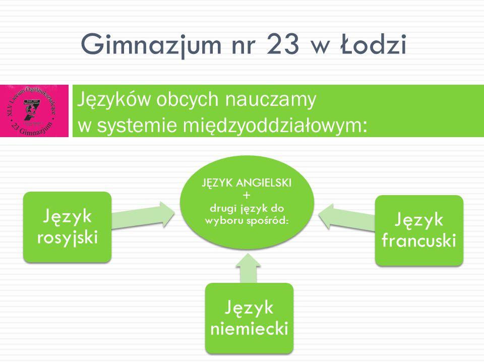 Języków obcych nauczamy w systemie międzyoddziałowym: