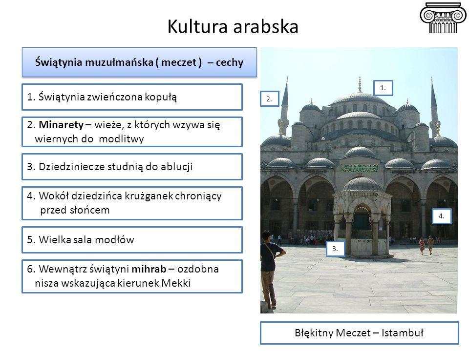Świątynia muzułmańska ( meczet ) – cechy