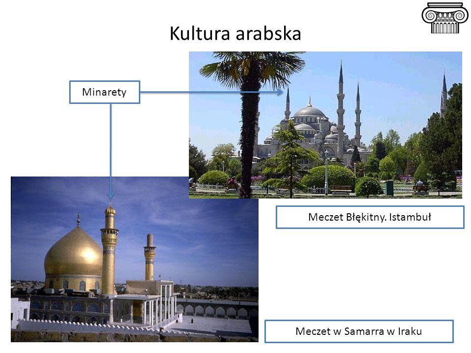 Kultura arabska Minarety Meczet Błękitny. Istambuł
