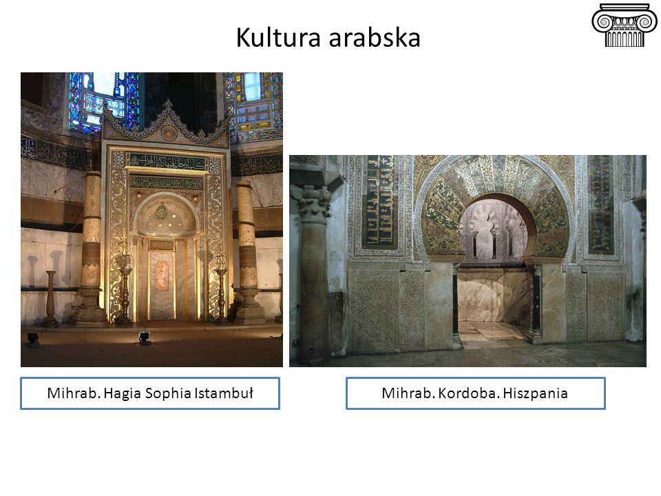 Kultura arabska Mihrab. Hagia Sophia Istambuł