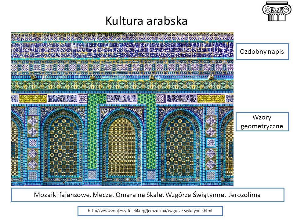 Kultura arabska Ozdobny napis Wzory geometryczne