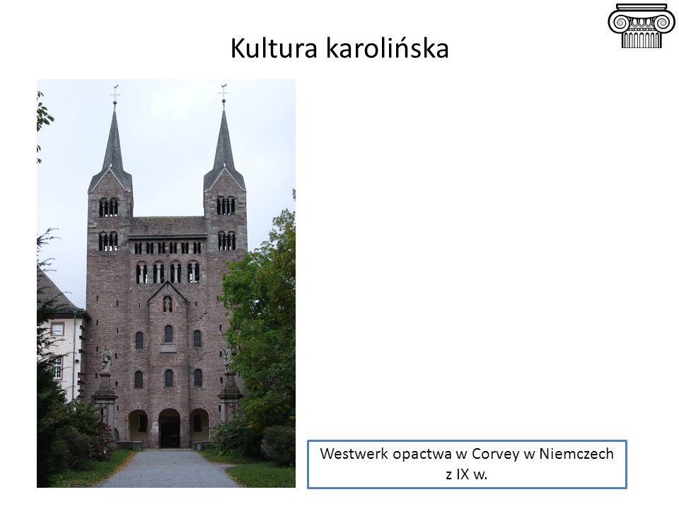 Westwerk opactwa w Corvey w Niemczech z IX w.