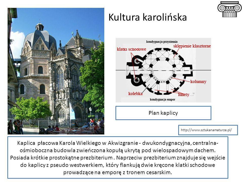Kultura karolińska Plan kaplicy