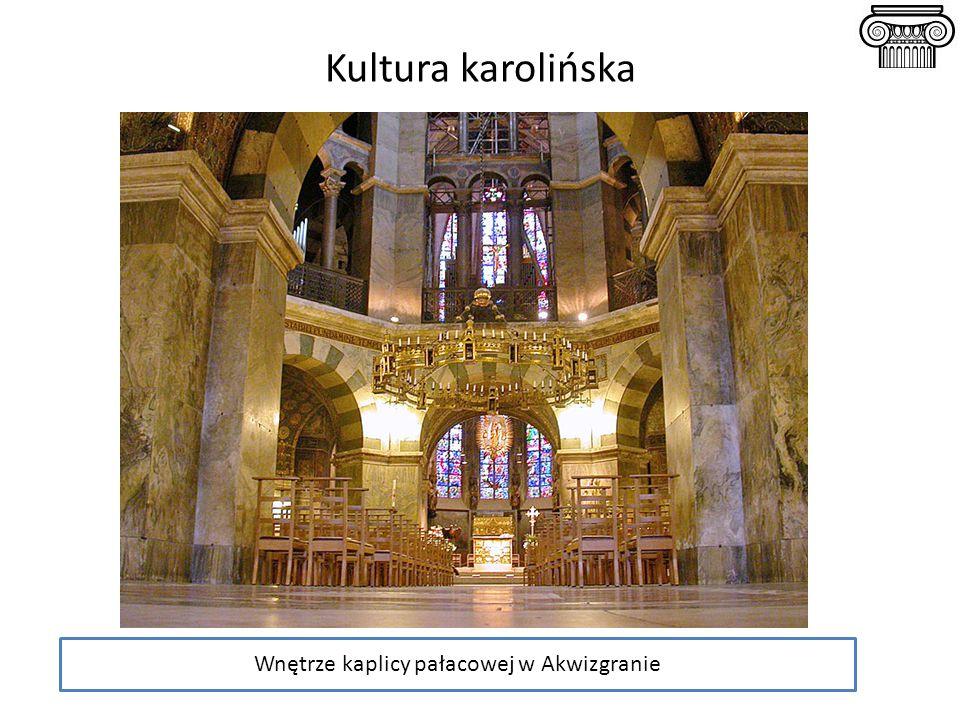 Wnętrze kaplicy pałacowej w Akwizgranie