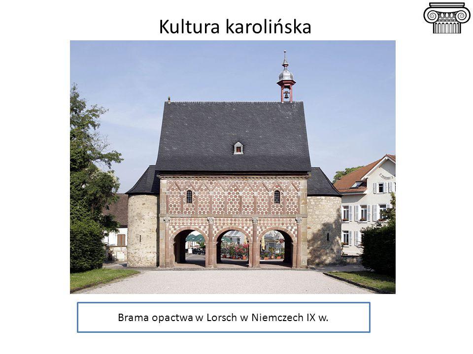 Brama opactwa w Lorsch w Niemczech IX w.
