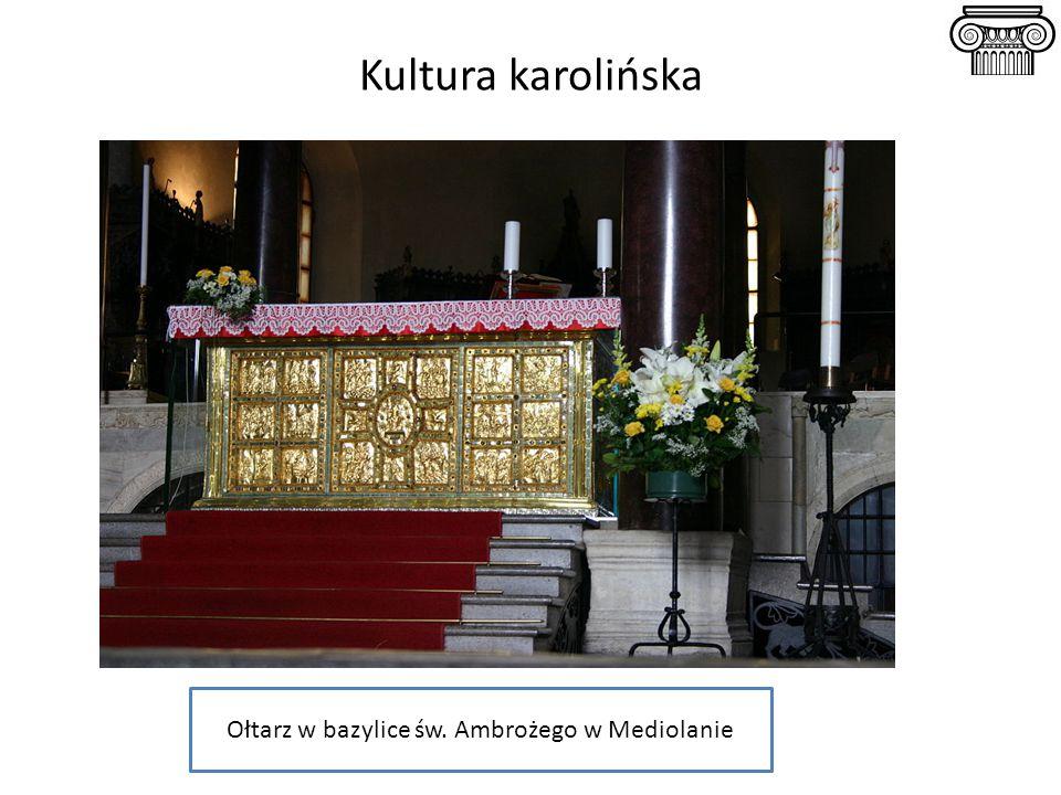 Ołtarz w bazylice św. Ambrożego w Mediolanie