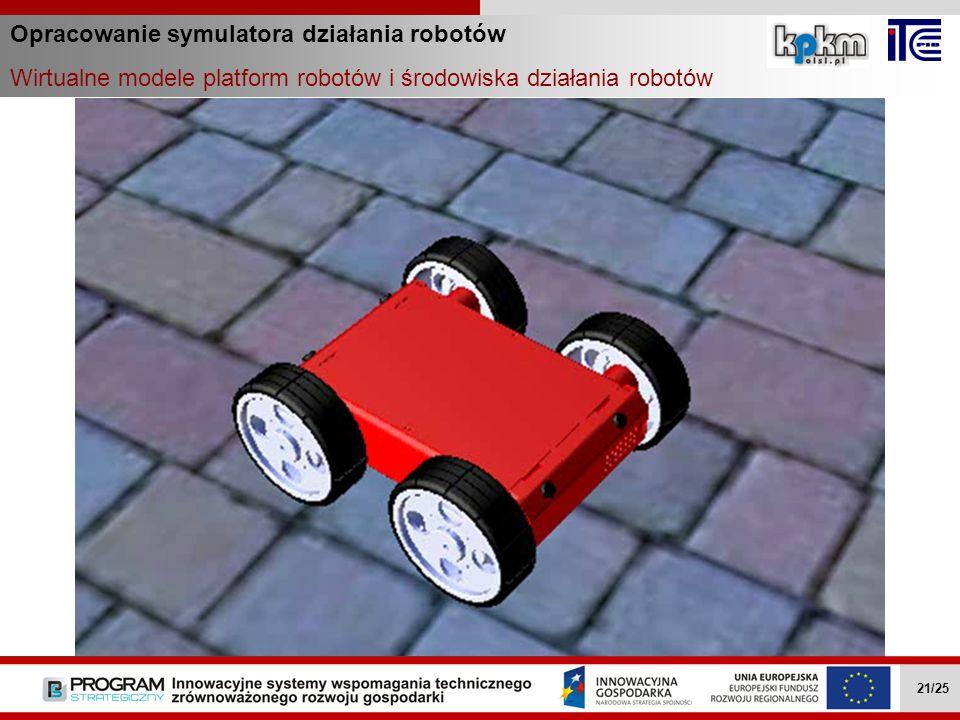 Opracowanie symulatora działania robotów